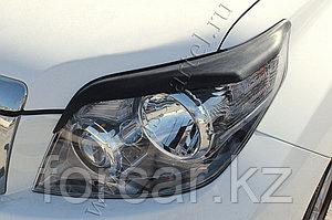 Накладки на передние фары (реснички) Toyota LC Prado 150 2009-2013
