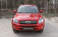Накладки на передние фары (реснички) Toyota Rav4 2006-2010, фото 2