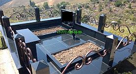 Облагораживание мусульманской могилы гранитной плиткой, фото 3
