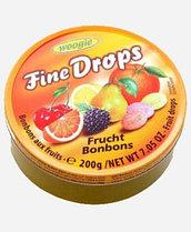 Леденцы Woogie Fine Drops Frucht Bonbons 200гр ж/б