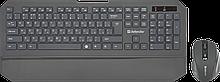 Defender 45925 Беспроводной набор (клавиатура + мышь) Berkeley C-925, RU, черный,мультимедиа