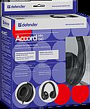 Defender 63047 Accord HN-047 Гарнитура для смартфонов, черный, кабель 1,2 м, фото 4