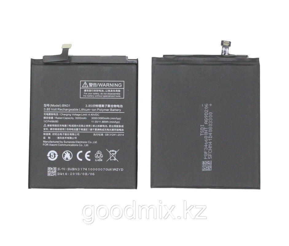 Аккумулятор для Xiaomi Redmi Note 5A Prime (BN31, 3080 mAh)