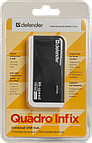 Defender 83504 QUADRO INFIX Универсальный USB разветвитель USB 2.0, 4 порта, фото 5