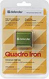 Defender 83506 Quadro Iron Универсальный USB разветвитель USB2.0, 4 порта, корпус—алюминий, фото 3