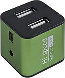 Defender 83506 Quadro Iron Универсальный USB разветвитель USB2.0, 4 порта, корпус—алюминий, фото 2