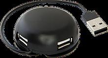 Defender 83201 USB разветвитель универсальный Quadro Light USB2.0, 4 порта, корпус—алюминий