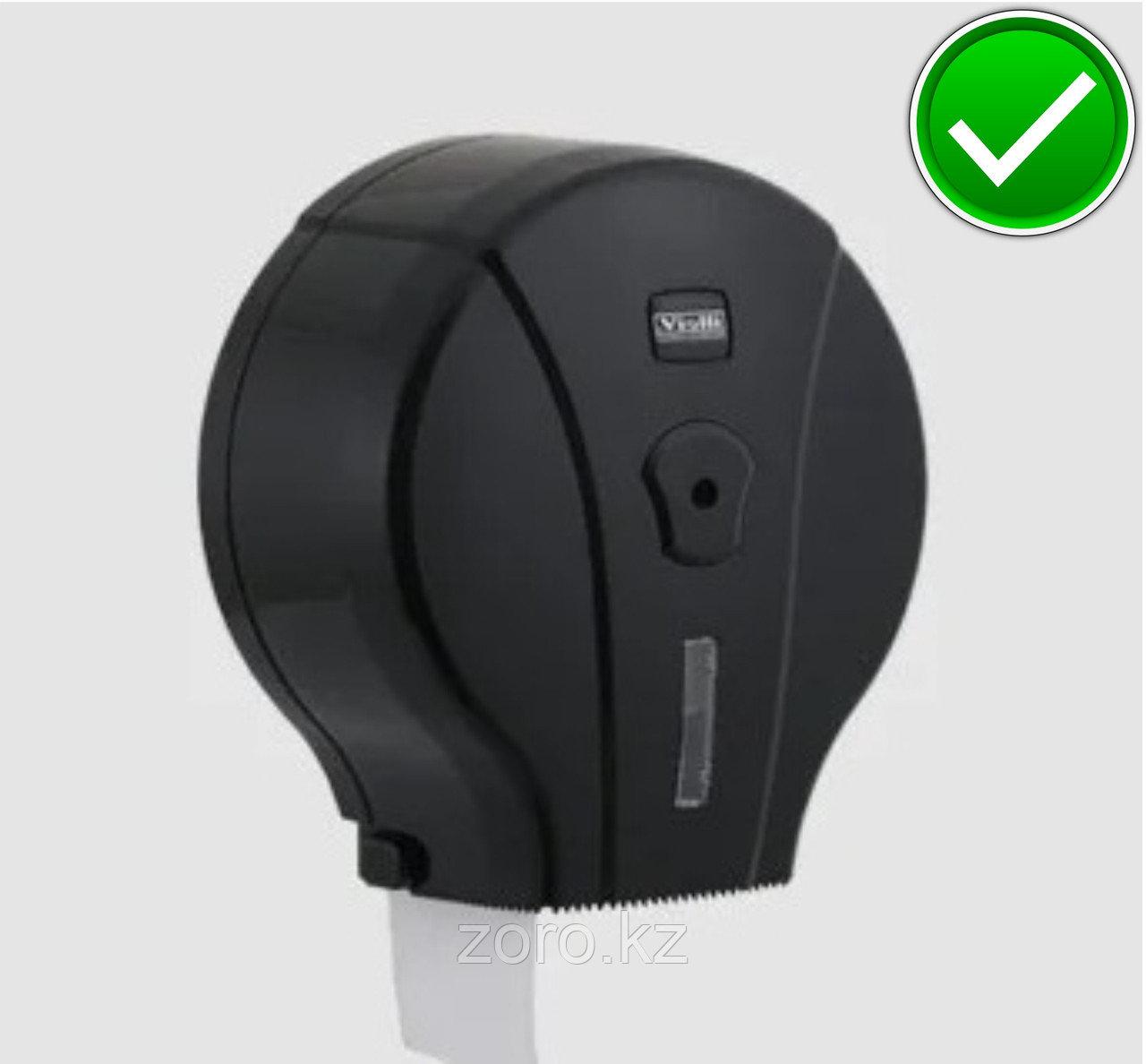 Диспенсер антивандальный для туалетной бумаги Джамбо Vialli  пластиковый черный Турция