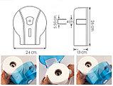 Диспенсер антивандальный для туалетной бумаги Джамбо Vialli  пластиковый черный Турция, фото 2