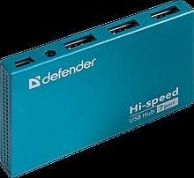 Defender 83505 USB разветвитель универсальный Septima Slim USB2.0, 7портов, блок питания 2A