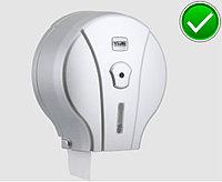 Диспенсер антивандальный для туалетной бумаги Джамбо Vialli  пластиковый серый Турция