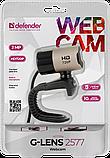 Defender 63177 G-lens 2577 Веб-камера HD720p 2МП, 5сл. стекл.линза, фото 2