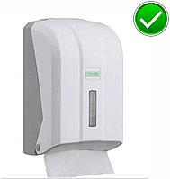 Диспенсер для листовой туалетной бумаги пластиковый белый Турция