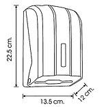 Диспенсер для листовой туалетной бумаги пластиковый серый Турция, фото 2