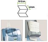 Диспенсер для листовой туалетной бумаги пластиковый серый Турция, фото 4