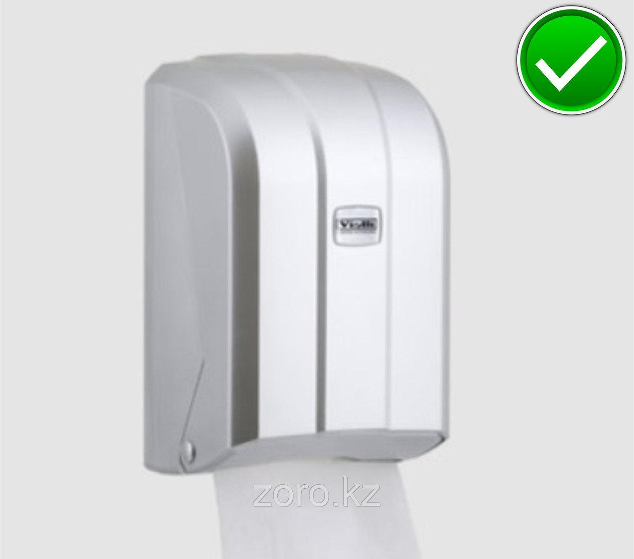 Диспенсер для листовой туалетной бумаги пластиковый серый Турция