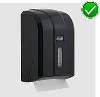 Диспенсер для листовой туалетной бумаги пластиковый черный Турция