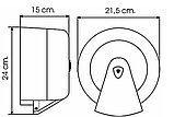 Диспенсер (Vialli) для туалетной бумаги Джамбо центральной вытяжки белый пластик, фото 2