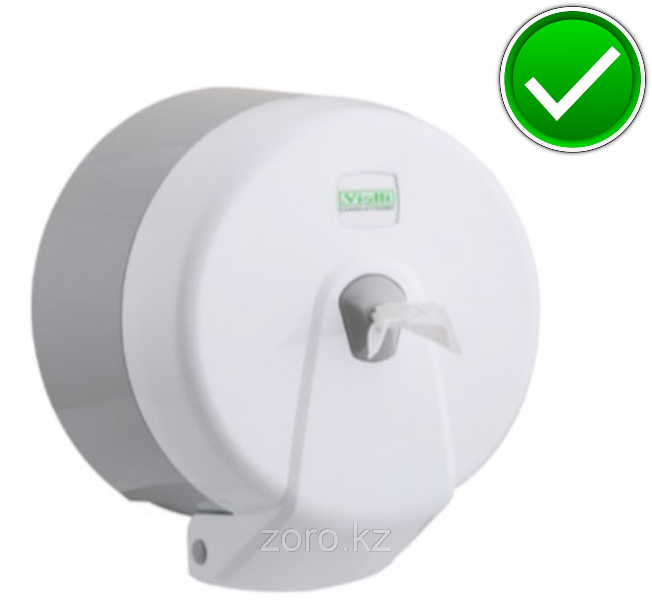 Диспенсер (Vialli) для туалетной бумаги Джамбо центральной вытяжки белый пластик