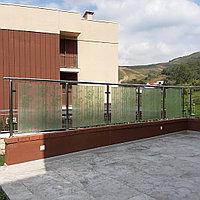 Ограждения со стеклом из нержавеющей стали