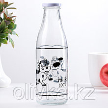 Бутыль для молока «Коровушка», 1 л, 8,5×25 см