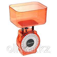 Весы кухонные HOMESTAR HS-3004М, механические, до 1 кг, чаша 0.5 л, красные