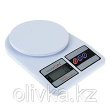 Весы кухонные LuazON LVK-704, электронные, до 7 кг, белые