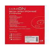 Весы кухонные LuazON LVK-508, электронные, до 5 кг, встроенные часы, жёлтые, фото 7