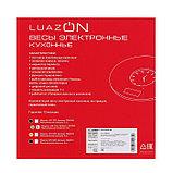 """Весы кухонные LuazON LVK-703, электронные, до 5 кг, встроенные часы, цвет """"хаки"""", фото 7"""
