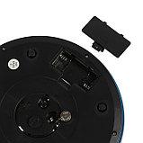 Весы кухонные LuazON LVK-508, электронные, до 5 кг, встроенные часы, тёмно-синие, фото 5