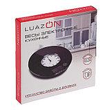 Весы кухонные LuazON LVK-508, электронные, до 5 кг, встроенные часы, тёмно-синие, фото 6