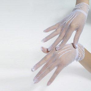 Сетчатые перчатки, белые