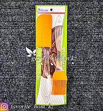 Кисточка и лопатка силиконовая. Материал: Силикон/Пластик. Цвет: Оранжевый/Полупрозрачный.