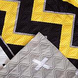Покрывало Экономь и Я евро «Зигзаги», желтый, 200х210±5 см, микрофайбер, фото 3