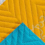 Покрывало Экономь и Я Ультрастеп «Радуга» 240×210 ± 5 см, микрофайбер, 215 г/м², 100% п/э, фото 3
