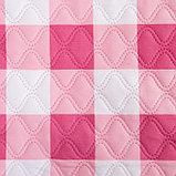 Покрывало Экономь и Я евро «Клетка», красно-белый, 200х210±5см, новосатин, фото 2