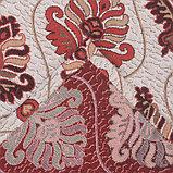 Покрывало гобеленовое Этель «Барокко», бордовый, 240х200 см, п/э 80%, хл 20% (450 г/м), фото 3