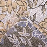 Покрывало гобеленовое Этель «Роскошь» с бахромой, бежевый, 240х200см, п/э 80%, хл 20% (450 г/м2), фото 3