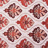 Покрывало гобеленовое Этель «Барокко» с бахромой, бордовый, 240х200см, п/э 80%, хл 20% (450 г/м2), фото 2