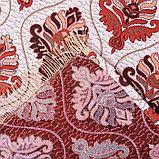 Покрывало гобеленовое Этель «Барокко» с бахромой, бордовый, 240х200см, п/э 80%, хл 20% (450 г/м2), фото 3
