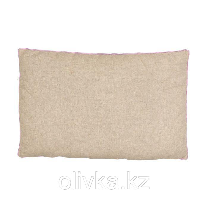 Подушка 40х60 с лузгой гречихи и лавандой, лен