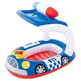 Лодочка для плавания «Машинка» с тентом, 98 х 66 см, от 3-6 лет, от 3-6 лет, цвета МИКС, 34103 Bestway, фото 2