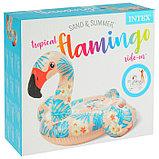 Плот для плавания «Фламинго тропический», 142 х 137 х 97 см, 57559NP INTEX, фото 3