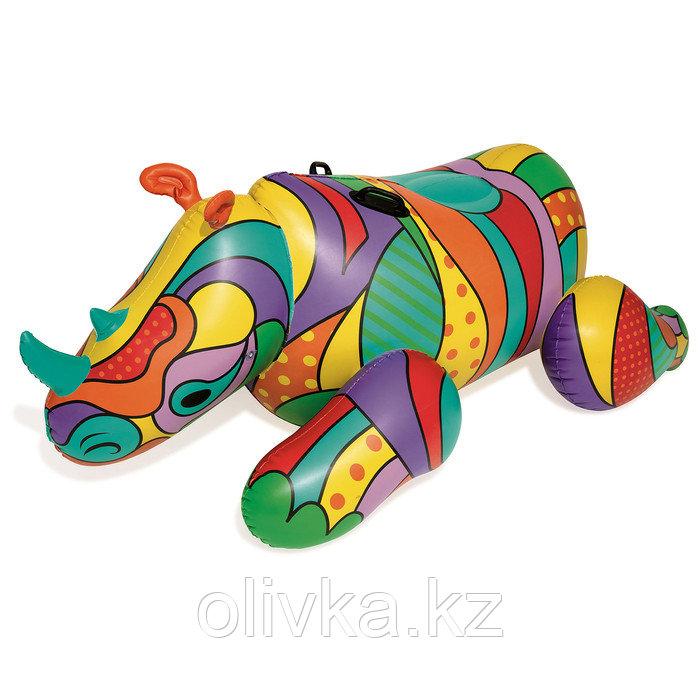 Плот для плавания «Поп-арт носорог», 201 х 102 см, 41116 Bestway
