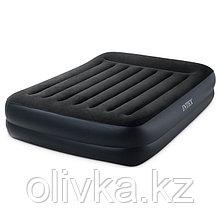 Кровать надувная Pillow Rest Raised 152 х 203 х 42 см, с встроенным насосом, 220-240V, 64124NP INTEX