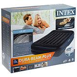 Кровать надувная Pillow Rest Raised 152 х 203 х 42 см, с встроенным насосом, 220-240V, 64124NP INTEX, фото 6