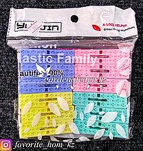 Набор прищепок бельевых. Материал: Пластик/Металл. Цвет: Разные цвета.