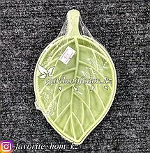 Мыльница пластиковая, в форме листа. Материал: Пластик. Цвет: Зеленый.