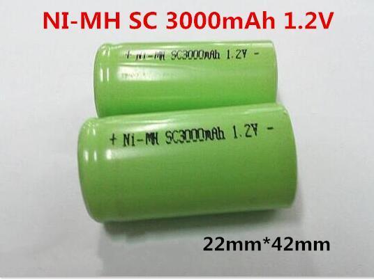 Аккумулятop 1,2v 3000mAh  SC  Ni-MH для батарей шуруповерта с выводами под пайку