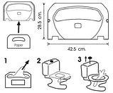 Диспенсер (держатель) для гигиенической бумаги (настил для унитаза) для крышки унитаза серый, фото 3